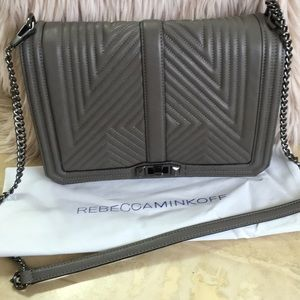 Rebecca Minkoff Jumbo Love Cross Body, Grey